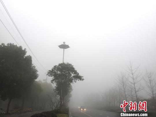 江苏大雾红色预警 境内多条高速特级管制