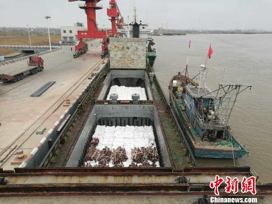 南京海关缉私警察查获的走私白糖。 徐海萍 摄