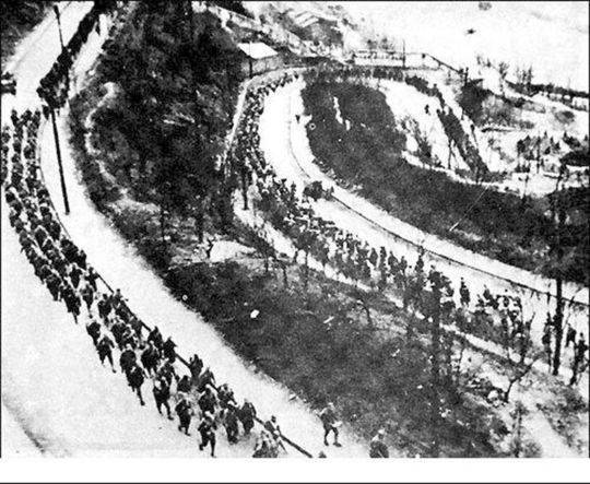 中国军队向昆仑关集结。(资料图)