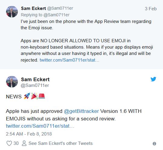 维护版权:苹果疑似禁止第三方软件使用其emoji表情