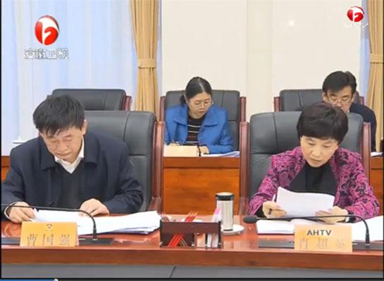 1月19日《安徽新闻联播》画面。