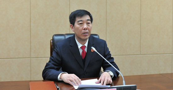 全国人大代表、甘肃省高级人民法院院长张海波。甘肃法院网 资料图