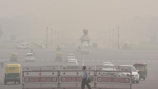 图为印度雾霾资料图
