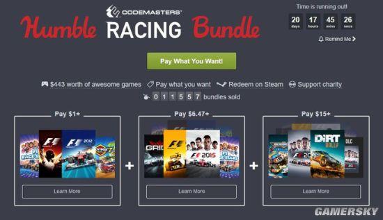 1美元Humble Bundle竞速游戏包上线 含《F1赛车明星》等4款游戏
