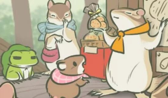 """蛙蛙并不总是一个人上路,""""他""""还会寄明信片、带回礼物,也能交到很多朋友。"""