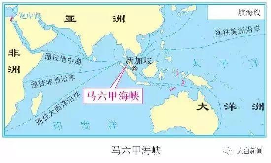 马六甲海峡地理位置示意图