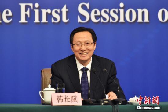 图为农业部部长韩长赋。中新社记者 李卿 摄