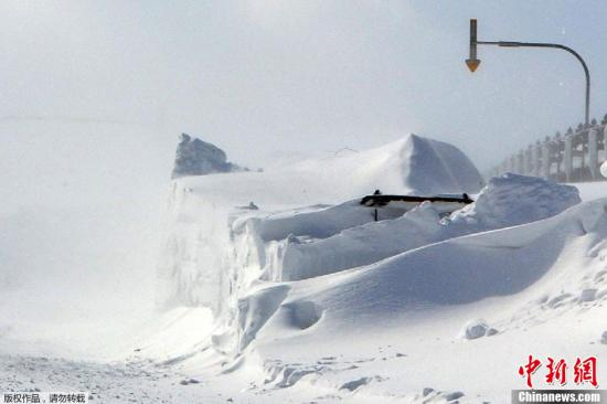 暴风雪将袭击日本北海道等地 政府发布雪崩预警