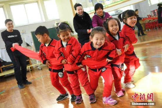 资料图:山西省政府机关幼儿园举行家长开放日活动。 武俊杰 摄