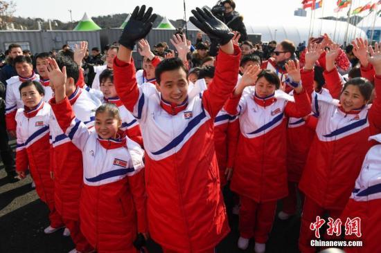 韩媒:朝鲜体育代表团举行入村仪式(图