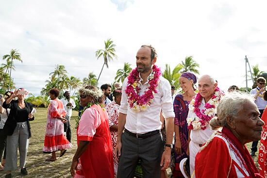 法国总理菲利普在新喀里多尼亚