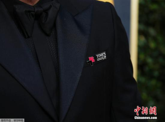 """明星穿黑衣支持性侵受害者 金球奖刮起""""黑色旋风"""""""