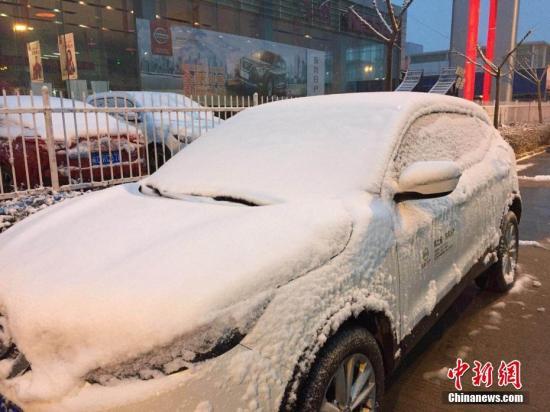 资料图:安徽经历风雪降温天气。黄娟 摄