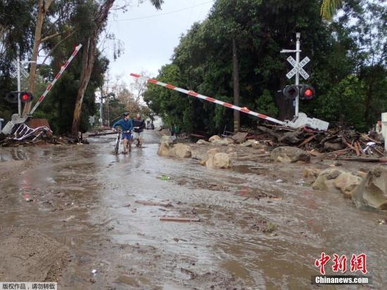 内部优惠券:美国南加州泥石流已致15人死亡 300名