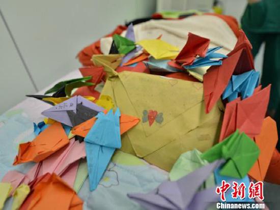 祝福。常山县红十字会和常山县人民医院提供