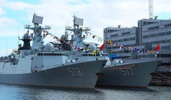 ▲资料图片:2017年10月,中国海军舰艇编队抵达伦敦进行访问。(香港《南华早报》网站)