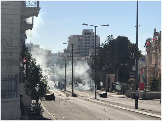12月9日,巴以隔离墙附近的冲突现场。纪双城摄