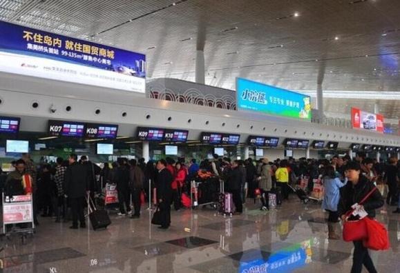 """台""""民航局""""暂不核准176班两岸春节加班机申请。图为厦门机场。"""