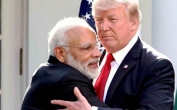 美国总统特朗普与印度总理莫迪
