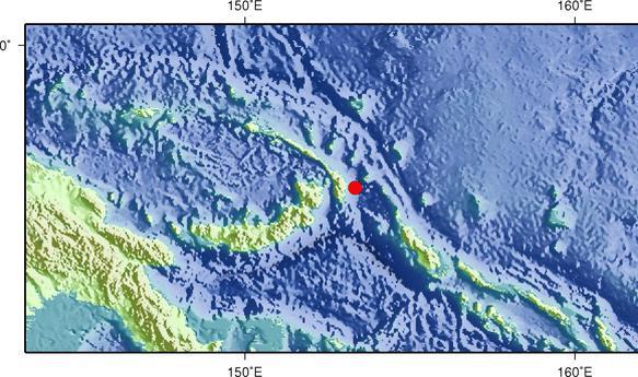 3月9日19时6分新爱尔兰地区发生5.9级地震