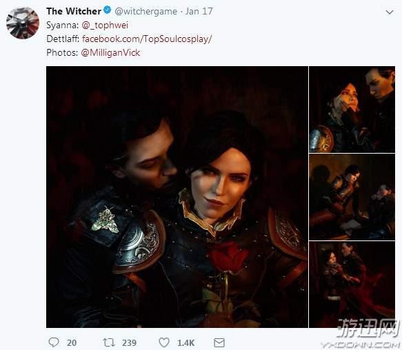《巫师》官方晒精美Cos照 网友:《巫师4》游戏截图?