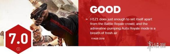 大逃杀鼻祖《H1Z1》获IGN 7.0分 缺乏自己的独特性!