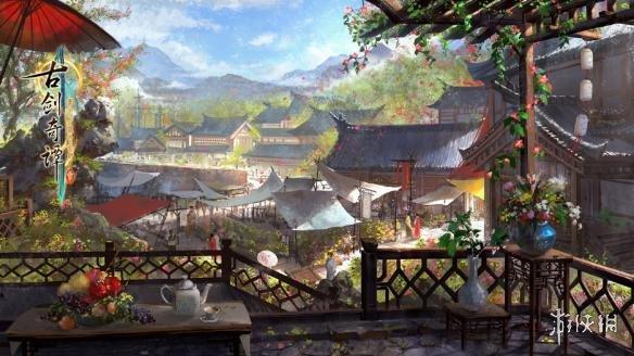 《古剑奇谭3》新概念图及实机截图曝光 场景美轮美奂