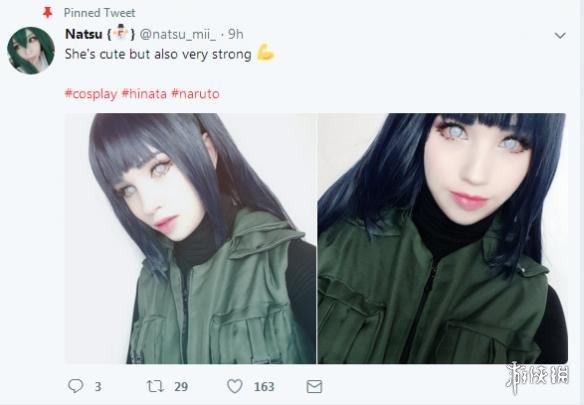 国外小姐姐cos《火影忍者》日向雏田 连翻白眼都这么可爱!