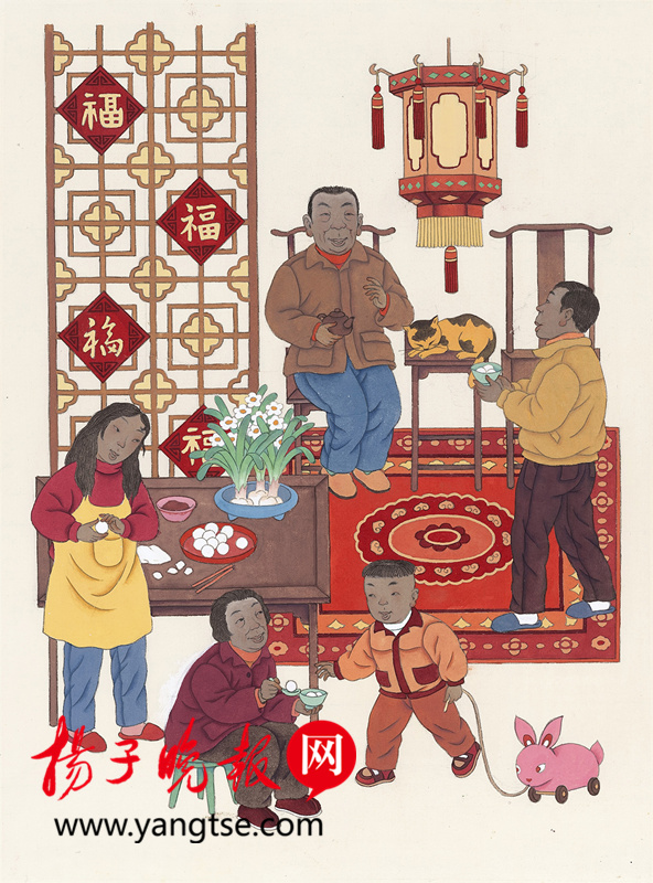 中国首套元宵节邮票由苏州画家绘制