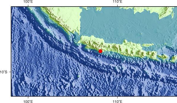 12月16日0时47分印尼爪哇岛发生6.7级地震