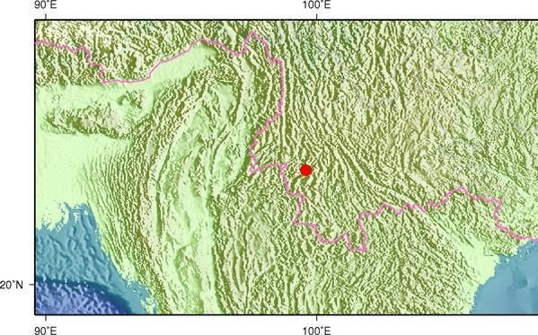 1月11日22时13分云南临沧市永德县发生3.1级地震