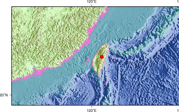 2月19日3时21分台湾南投县发生4.2级地震