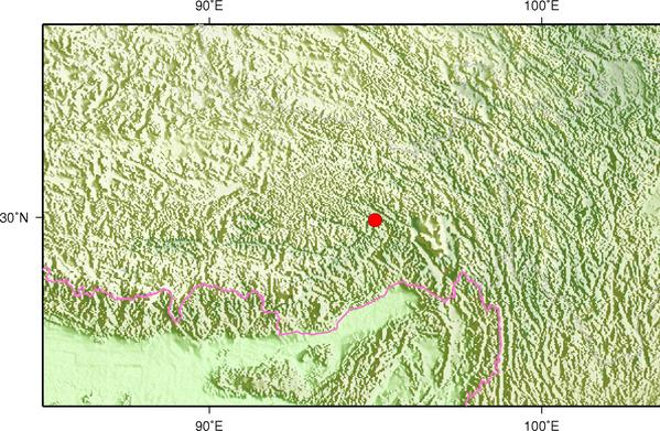 12月11日5时37分西藏林芝市巴宜区发生3.6级地震