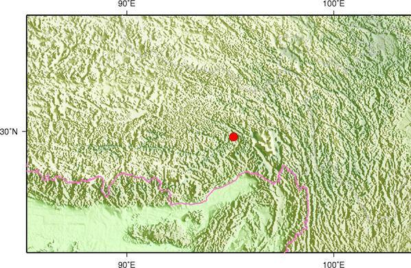 西藏林芝市米林县发生3.1级地震 震源深度6千米