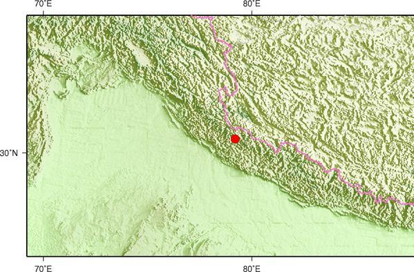 印度发生4.3级地震 震源深度5千米