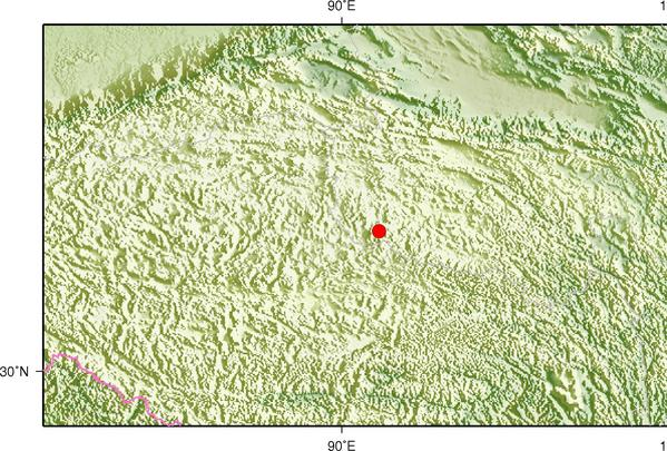 12月24日2时47分青海海西州唐古拉地区发生3.1级地震