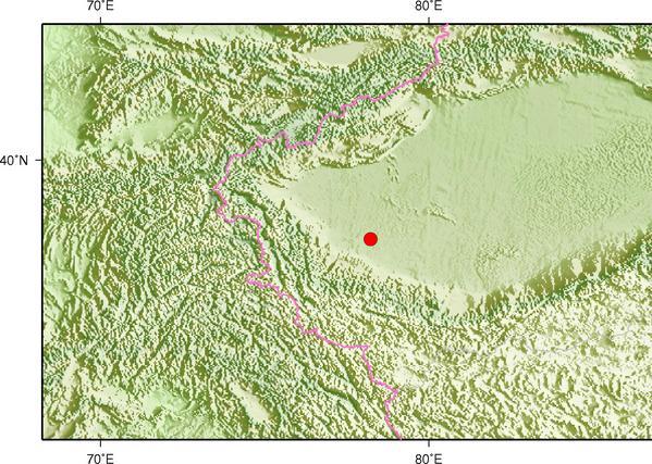 12月23日13时23分新疆和田地区皮山县发生3.1级地震