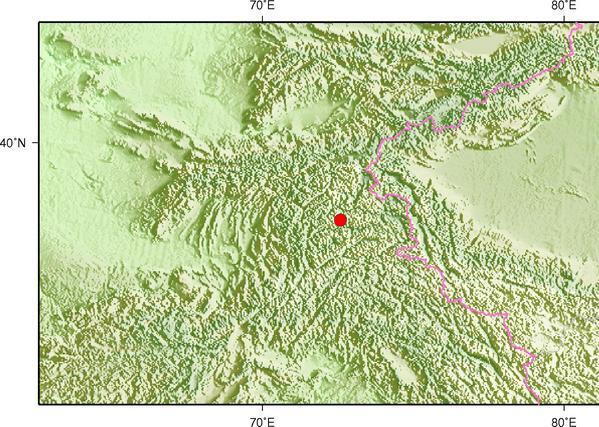1月9日8时5分塔吉克斯坦发生5.5级地震