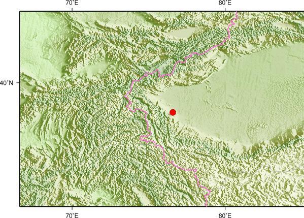 2月3日18时45分新疆喀什地区英吉沙县发生3.6级地震
