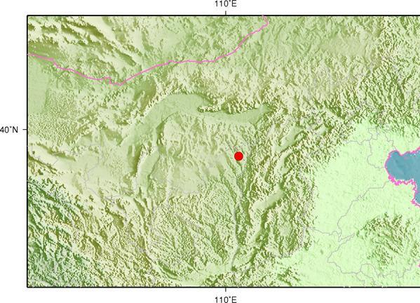 11月30日3时9分陕西榆林市神木县(塌陷)发生2.8级地震