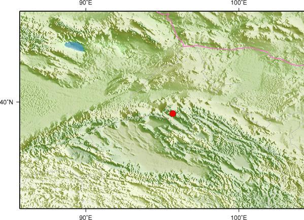 甘肃酒泉市肃北县发生2.8级地震 震源深度8千米