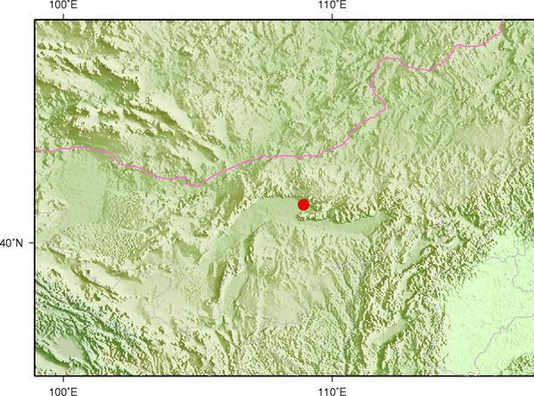 2月24日9时10分内蒙古巴彦淖尔市乌拉特前旗发生3.7级地震