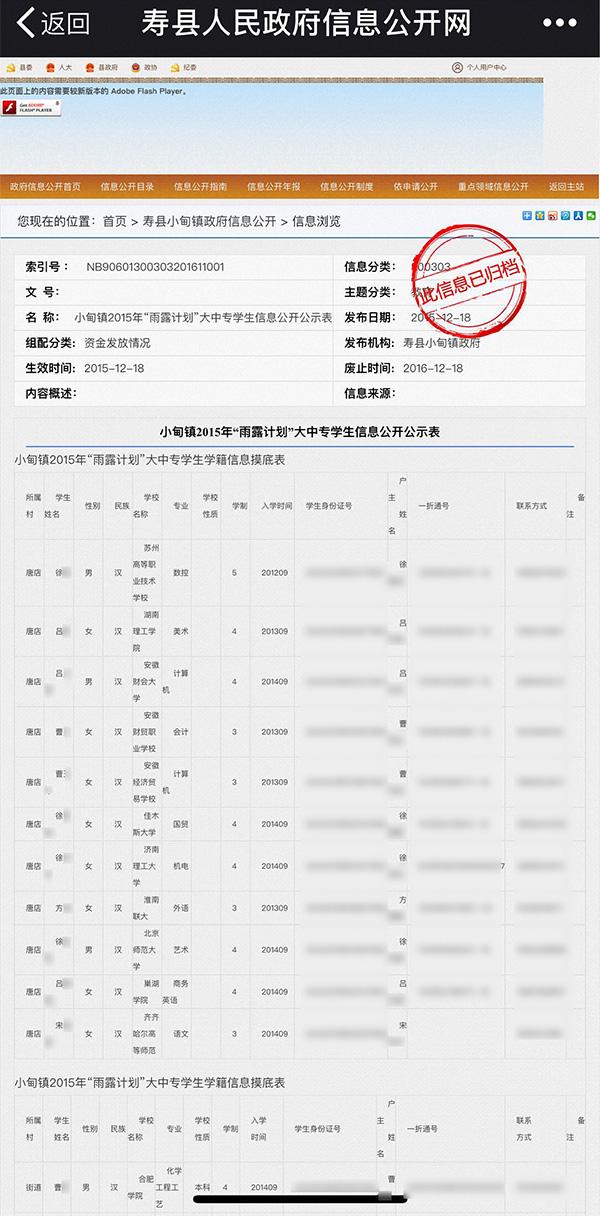 """安徽淮南仍存上百条公民隐私泄露现象,官方:正在""""回头"""