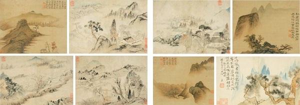 《山水册》 石涛 清康熙三十四年(1695年)纸本或绢本设色 四川博物院藏