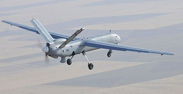 """图为中国国产的""""翼龙""""无人机"""