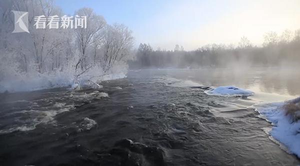 黑河现雾凇奇观如仙境 游客:瞬间被美景征服(图)