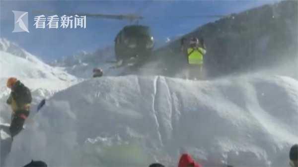 视频|阿尔卑斯山滑雪胜地突发雪崩 紧急撤离100人