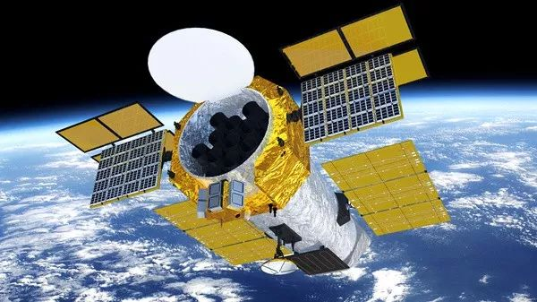 △eXTP卫星在轨运行模拟图(中科院供图)