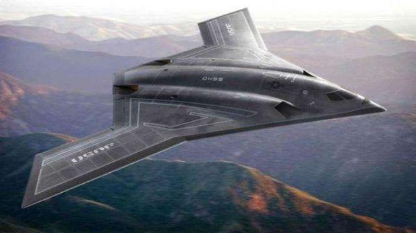 图为美国B-21轰炸机设想图