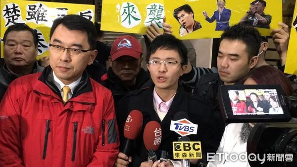 侯汉廷宣布将参选台北市议员。(来源:台湾东森新闻云)